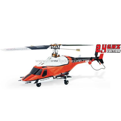 Hybrid Metal CB180Q Airwolf [2.4GHz] Orange Style w/ LCD Transmitter